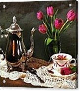 Tea'n Tulips Acrylic Print