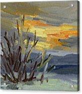 Teanaway Valley Winter Acrylic Print