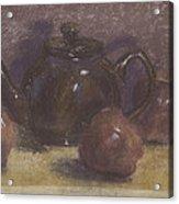 Teapot And Apples Acrylic Print