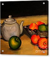 Teapot With Some Fruit Acrylic Print