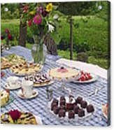 Teatime In The Garden Acrylic Print