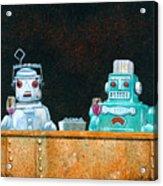 Tech Talk... Acrylic Print by Will Bullas