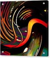 Techno  Neon Stripes Acrylic Print