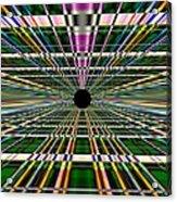 Technological Black Hole Acrylic Print