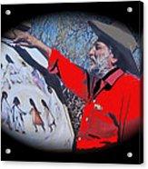 Ted Degrazia Los Ninos Oil Petley Post Card C.1967-2013 Acrylic Print