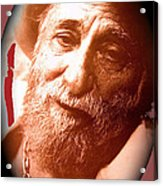 Ted Degrazia Portrait By Henry Redl Circa 1980-2013 Acrylic Print