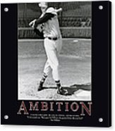 Ted Williams Ambition Acrylic Print