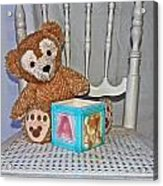 Teddy And Toy Box Acrylic Print