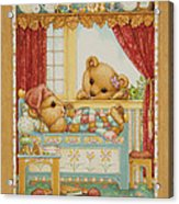 Teddy Bear Friends Acrylic Print