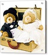 Teddy Bear Honeymoon Acrylic Print