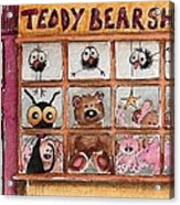 Teddy Bear Shop Acrylic Print