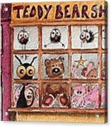 Teddy Bear Shop Acrylic Print by Lucia Stewart
