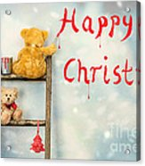 Teddy Bears At Christmas Acrylic Print