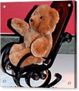 Teddy's Chair - Toy - Children Acrylic Print