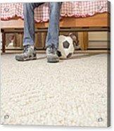 Teen Boy In Bedroom Acrylic Print