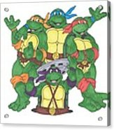 Teenage Mutant Ninja Turtles  Acrylic Print by Yael Rosen