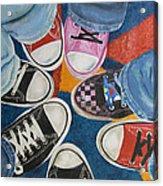 Teens In Converse Tennies Acrylic Print