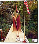 Teepee Acrylic Print by Marty Koch