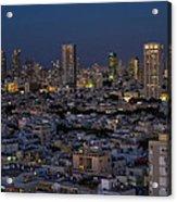 Tel Aviv At The Twilight Magic Hour Acrylic Print