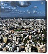 Tel Aviv Center Acrylic Print by Ron Shoshani