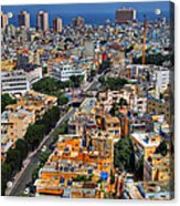 Tel Aviv Eagle Eye View Acrylic Print
