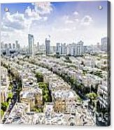 Tel Aviv Israel Elevated View Acrylic Print