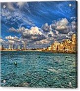 Tel Aviv Jaffa Shoreline Acrylic Print