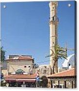 Tel Aviv Old Town Street Acrylic Print