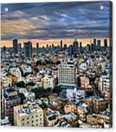 Tel Aviv Skyline Winter Time Acrylic Print