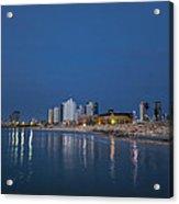 Tel Aviv The Blue Hour Acrylic Print by Ron Shoshani