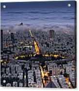 Tel Aviv Under Fog  Acrylic Print