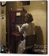 Telephone Operator Acrylic Print