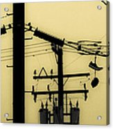 Telephone Pole And Sneakers 5 Acrylic Print by Scott Campbell