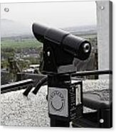 Telescope Near The Entrance Of Stirling Castle Acrylic Print