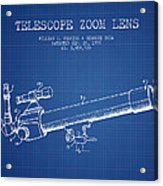 Telescope Zoom Lens Patent From 1999 - Blueprint Acrylic Print