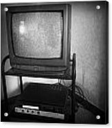Television And Recorder Acrylic Print