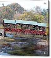 Tellico Bridge In Fall Acrylic Print by Regina McLeroy