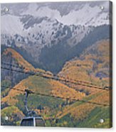 Telluride Winter Over Fall Acrylic Print