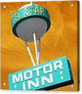 Telstar Motor Inn - Orange Acrylic Print