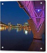 Tempe Light Rail Bridge Acrylic Print