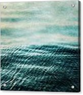 Tempest Ocean Landscape In Shades Of Teal Acrylic Print
