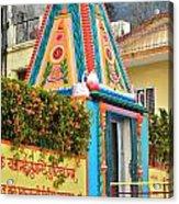 Colorful Temple - Rishikesh India Acrylic Print