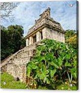 Temple And Foliage Acrylic Print