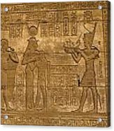 Temple At Denderah Egypt Acrylic Print by Brenda Kean
