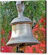 Beautiful Temple Bell At Vishwanath - Himalayas India Acrylic Print