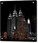 Temple Christmas Lights Acrylic Print