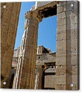 Temple Maze Of Columns Acrylic Print