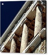 Temple Of Athena Nike Columns Acrylic Print by John Rizzuto