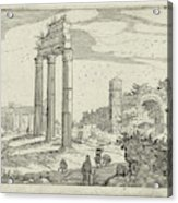 Temple Of Castor And Pollux And The Basilica Of Constantine Acrylic Print