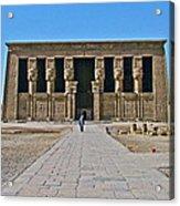Temple Of Hathor Near Dendera-egypt Acrylic Print by Ruth Hager